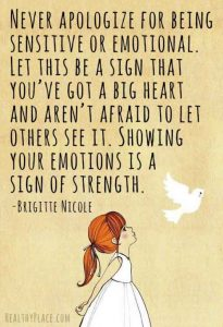 showing emotions is a sign of strength