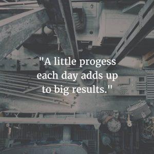 little progress big results