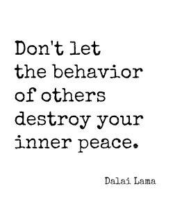 inner peace others' behavior