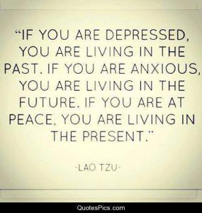 depressed past anxious future peace present