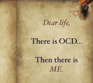 ocd vs me inspirational quote