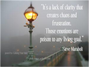 lack of clarity creates frustration steve maraboli quote